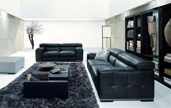 Белый дизайн интерьера гостиной